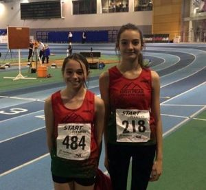 Nell & Megan about to start competing at E.I.S Sheffield